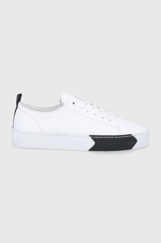 bílá Sisley - Kožené boty Dámský