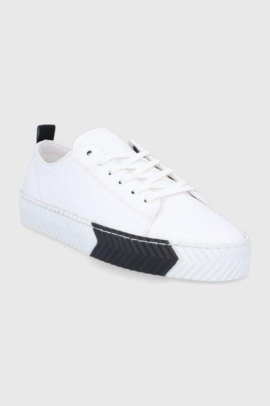 Sisley - Kožené boty bílá