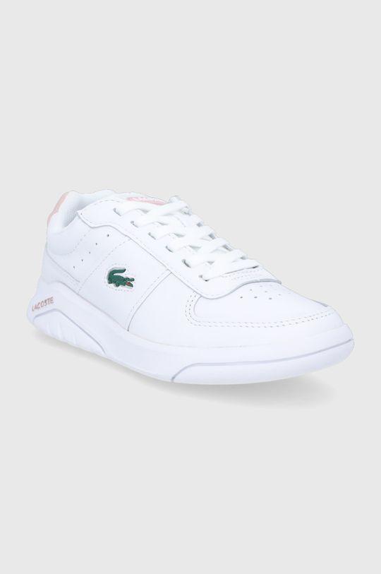 Lacoste - Kožená obuv Game Advance biela
