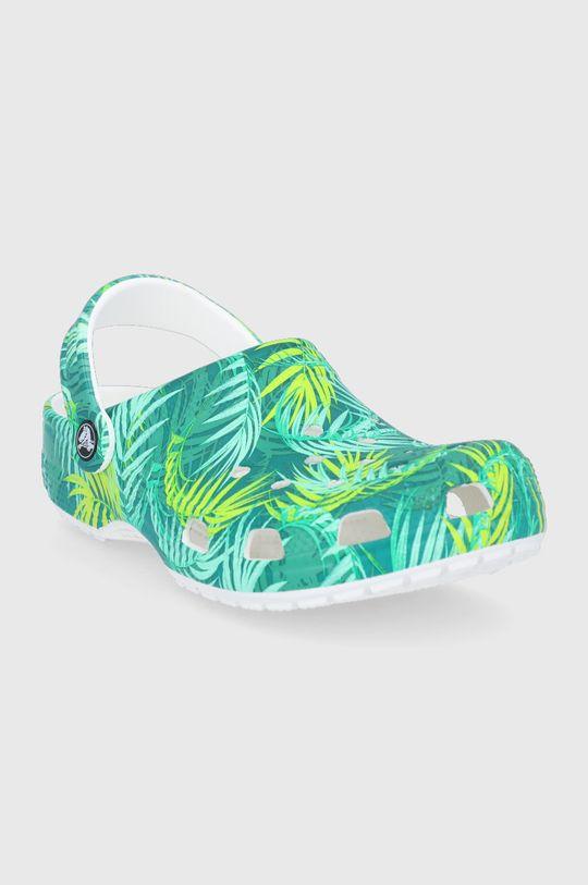 Crocs - Klapki zielony