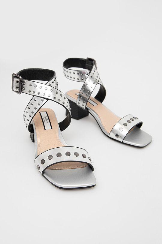 Pepe Jeans - Sandály Romy Studs 2 stříbrná