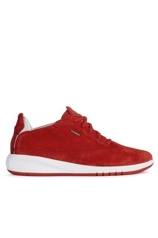červená Geox - Semišové boty Dámský