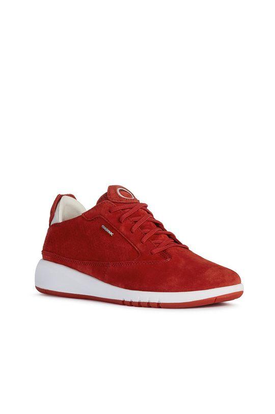 Geox - Semišové boty červená