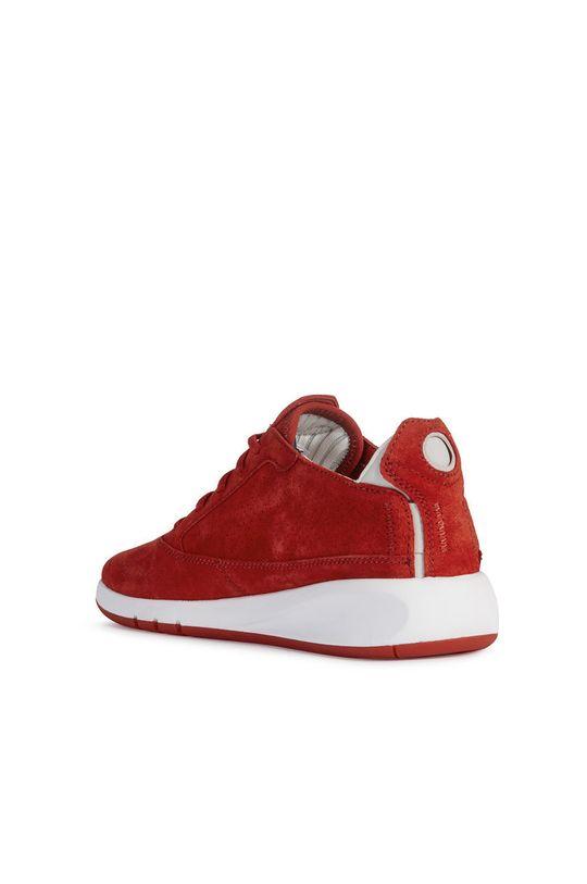 červená Geox - Semišové boty