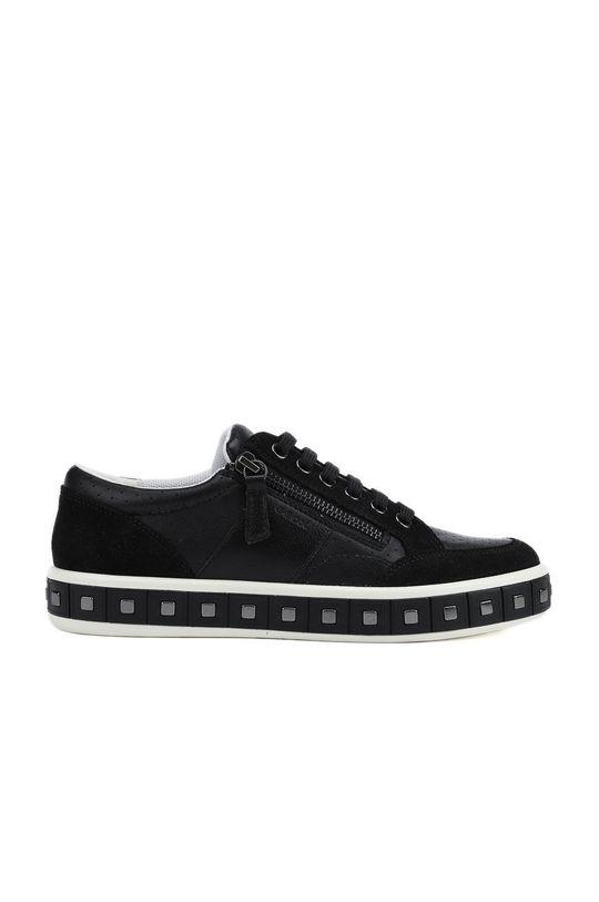 černá Geox - Kožené boty Dámský