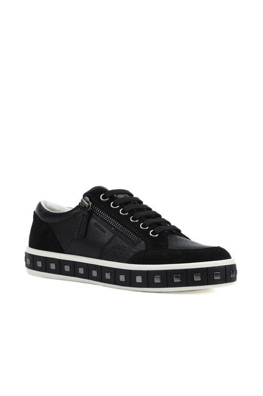 Geox - Kožené boty černá