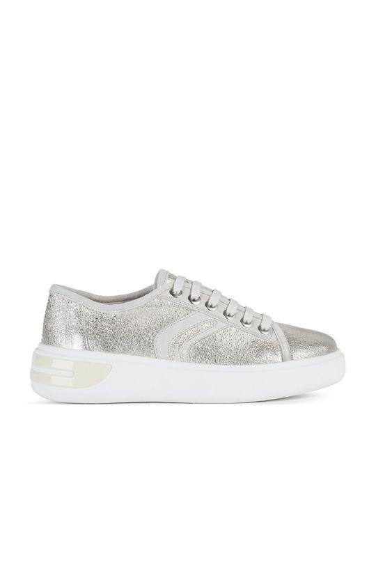 stříbrná Geox - Kožené boty Dámský