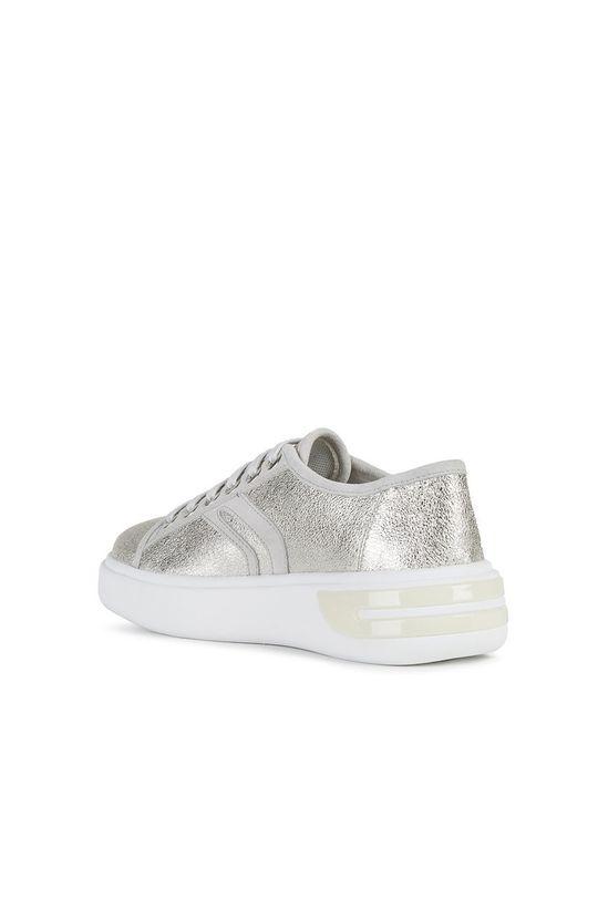stříbrná Geox - Kožené boty