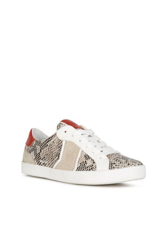 Geox - Kožené boty béžová