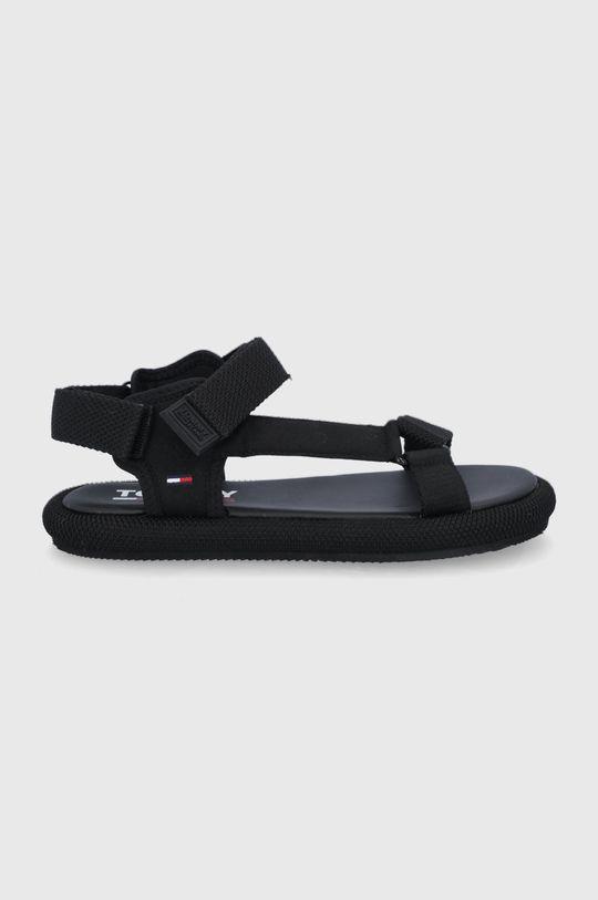 czarny Tommy Jeans - Sandały Damski
