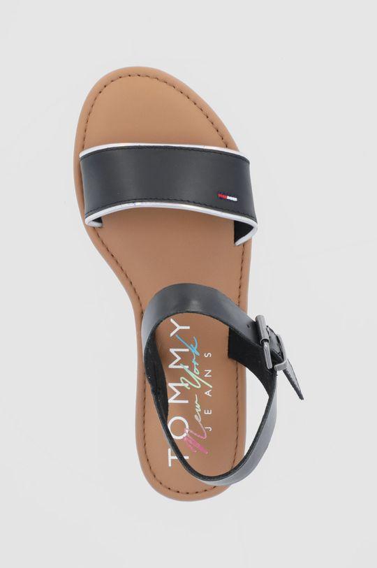 czarny Tommy Jeans - Sandały skórzane