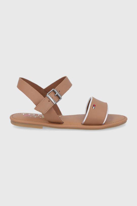 maro Tommy Jeans - Sandale de piele De femei