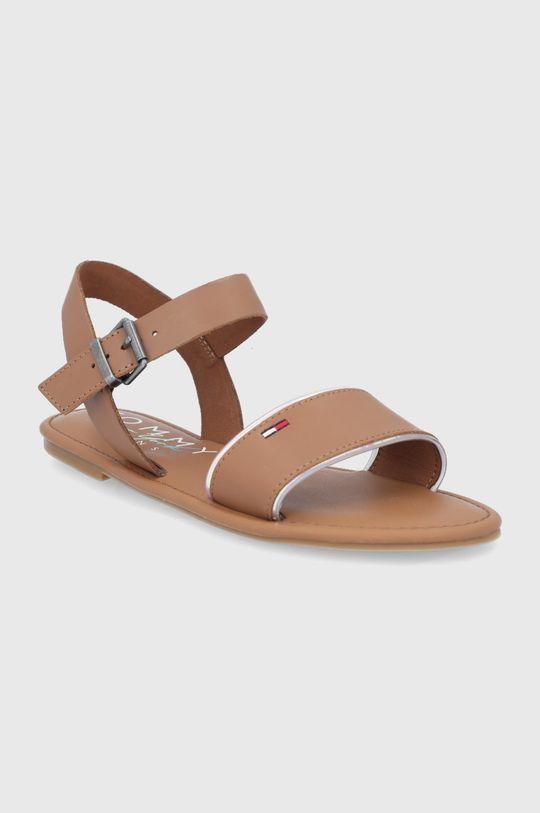 Tommy Jeans - Sandale de piele maro
