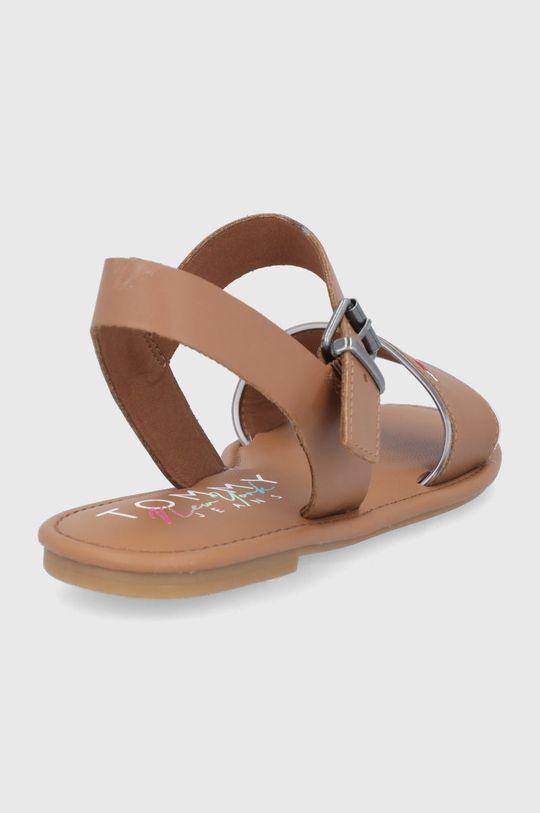 Tommy Jeans - Sandale de piele  Gamba: Material sintetic, Piele naturala Interiorul: Material textil, Piele naturala Talpa: Material sintetic