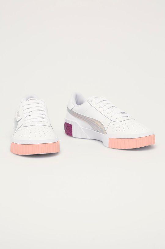 Puma - Dětské boty Cali Bubbles Jr bílá
