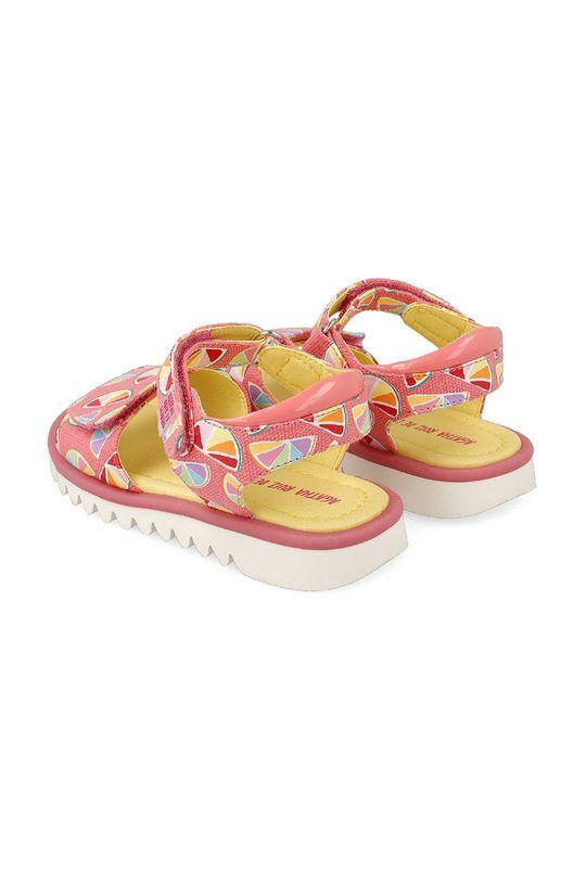 Agatha Ruiz de la Prada - Dětské sandály  Svršek: Umělá hmota, Textilní materiál Podrážka: Umělá hmota Vložka: Umělá hmota