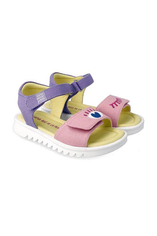 fialová Agatha Ruiz de la Prada - Dětské sandály Dívčí