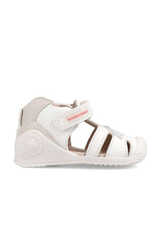 Biomecanics - Sandały skórzane dziecięce biały