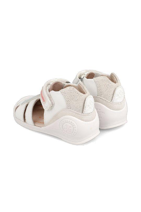 Biomecanics - Sandały skórzane dziecięce Cholewka: Skóra naturalna, Skóra zamszowa, Wnętrze: Skóra naturalna, Podeszwa: Materiał syntetyczny