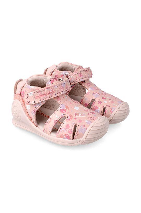 pastelově růžová Biomecanics - Dětské sandály Dívčí