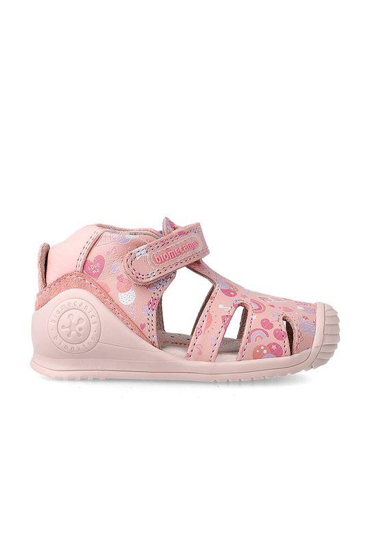 Biomecanics - Dětské sandály pastelově růžová