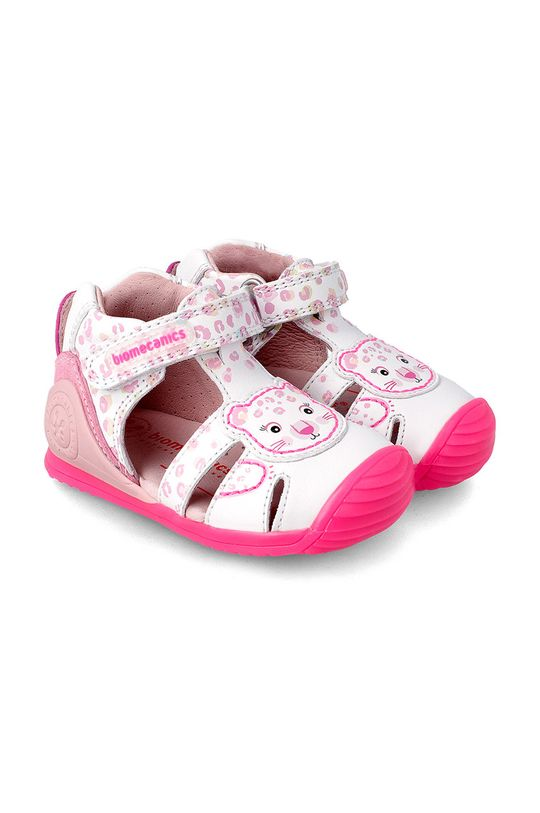 bílá Biomecanics - Dětské kožené sandály Dívčí