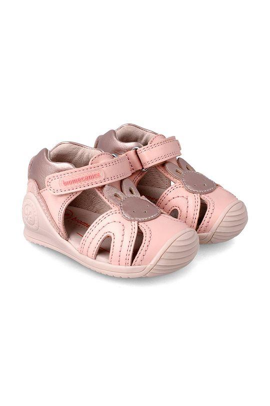 pastelowy różowy Biomecanics - Sandały dziecięce Dziewczęcy