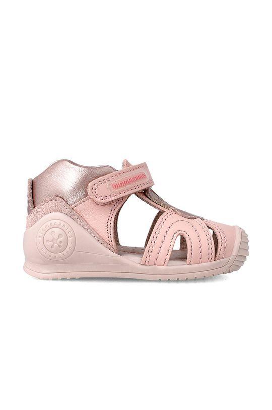 Biomecanics - Sandały dziecięce pastelowy różowy