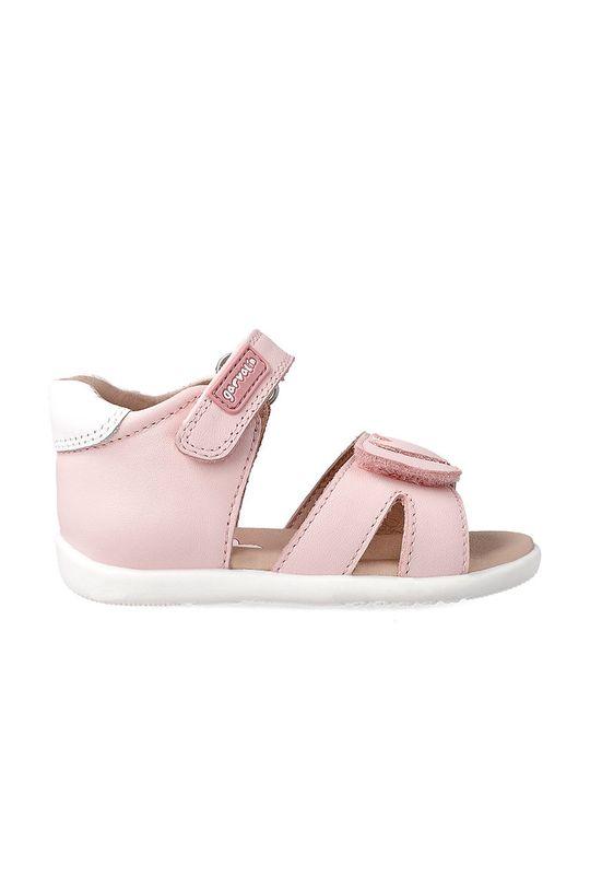 Garvalin - Dětské sandály pastelově růžová