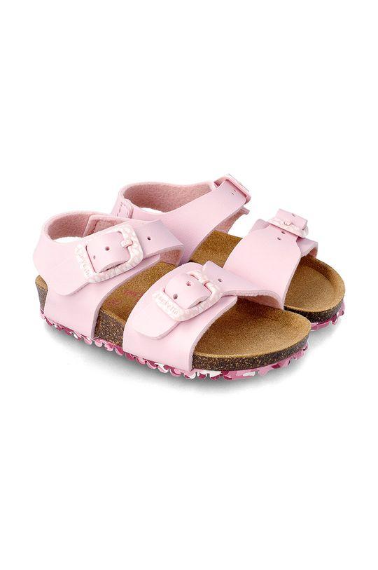 pastelově růžová Garvalin - Dětské sandály Dívčí