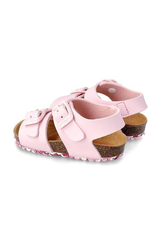 pastelově růžová Garvalin - Dětské sandály