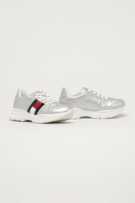 Tommy Hilfiger - Dětské boty stříbrná