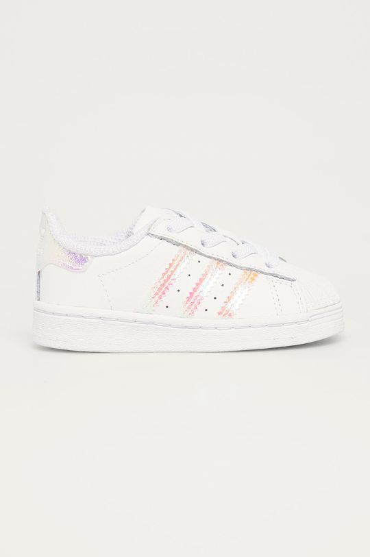 biela adidas Originals - Detské topánky Superstar EL Dievčenský
