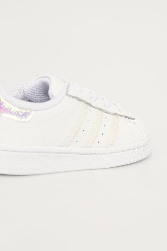 biela adidas Originals - Detské topánky Superstar EL