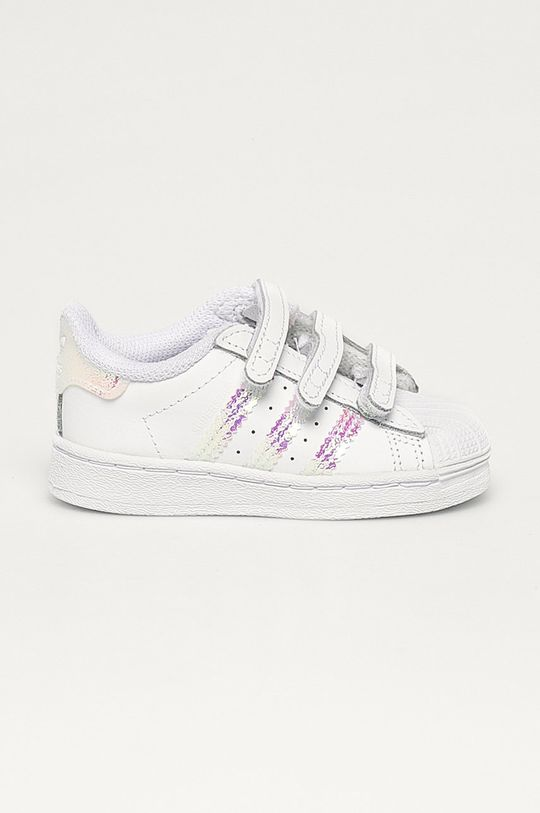 bílá adidas Originals - Dětské kožené boty Superstar Cf Dívčí