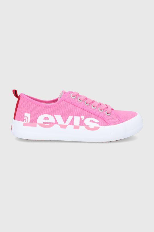 różowy Levi's - Tenisówki Dziewczęcy