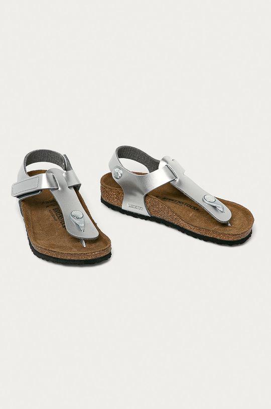 Birkenstock - Sandały dziecięce Kairo srebrny