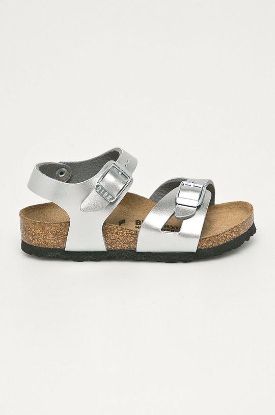 stříbrná Birkenstock - Dětské sandály Rio Dívčí