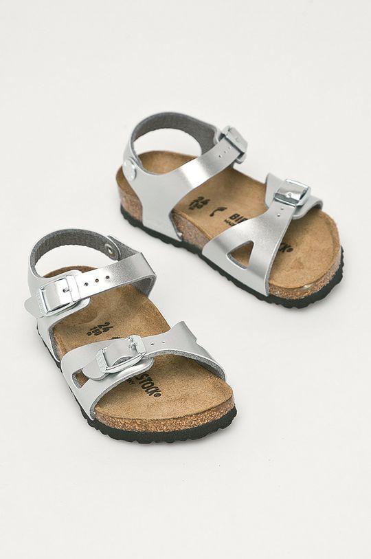 Birkenstock - Dětské sandály Rio stříbrná
