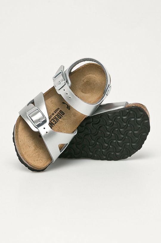 stříbrná Birkenstock - Dětské sandály Rio