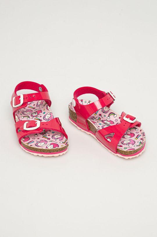 Birkenstock - Dětské sandály Rio růžová