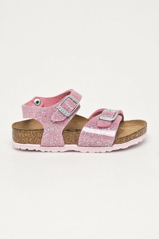 ružová Birkenstock - Detské kožené sandále Cosmic Dievčenský