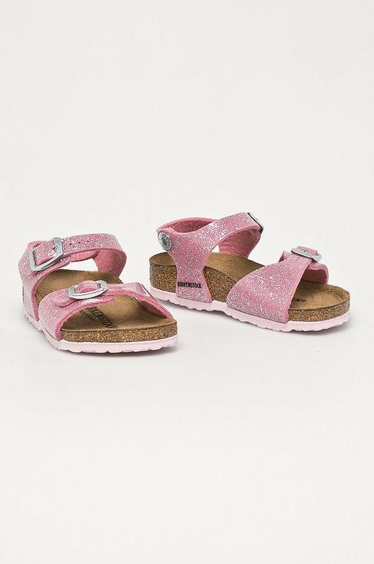 Birkenstock - Detské kožené sandále Cosmic ružová