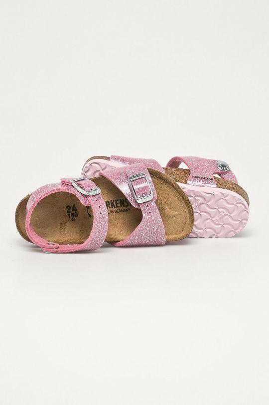ružová Birkenstock - Detské kožené sandále Cosmic