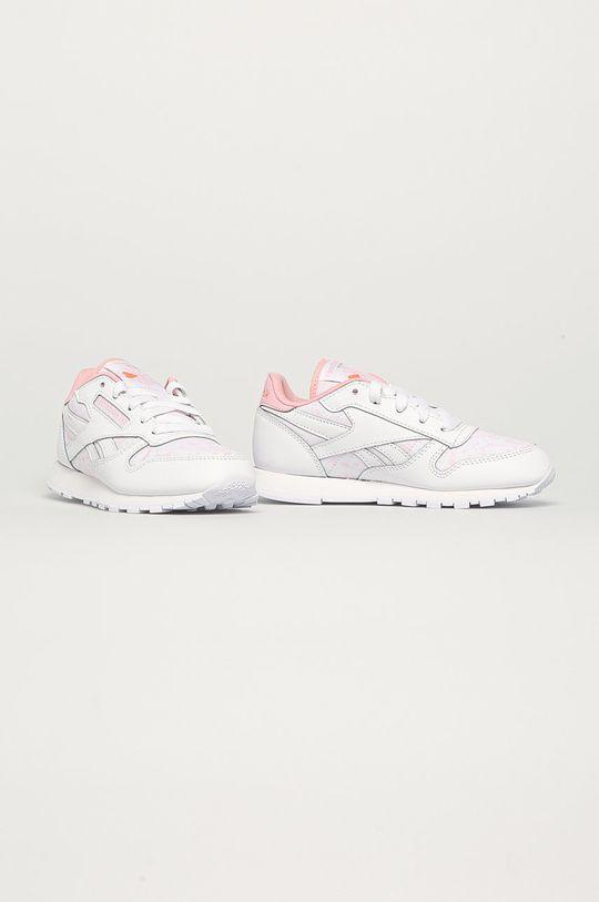 Reebok Classic - Pantofi copii Cl Lthr alb