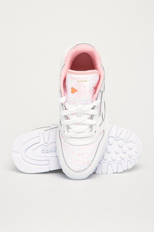 alb Reebok Classic - Pantofi copii Cl Lthr