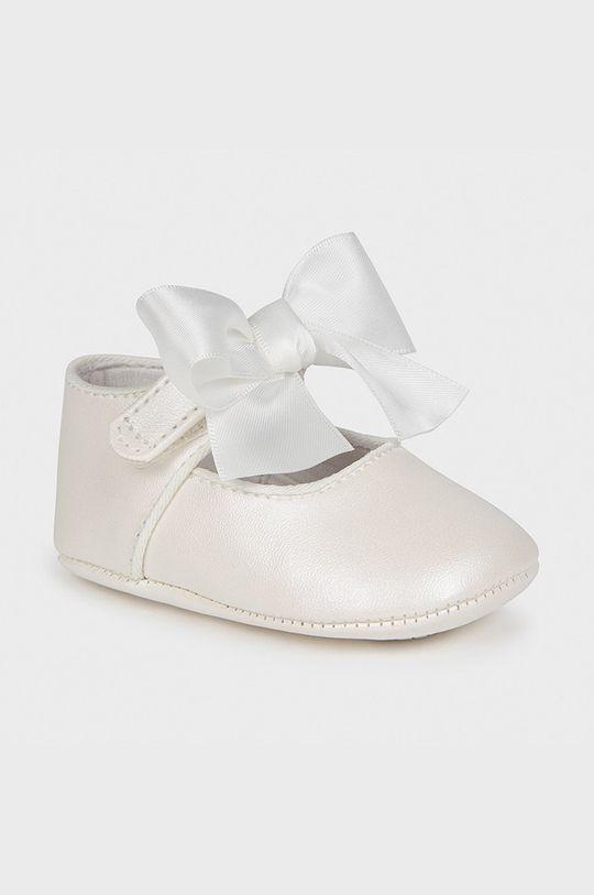 biały Mayoral Newborn - Baleriny dziecięce Dziewczęcy