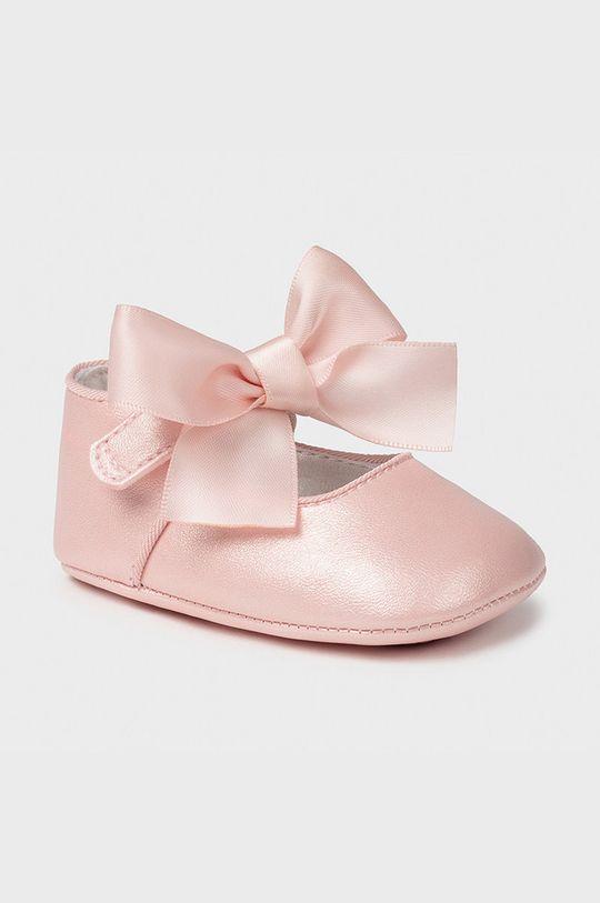 pastelová ružová Mayoral Newborn - Detské balerínky Dievčenský