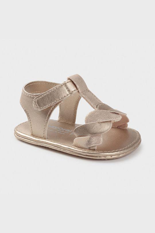 zlatá Mayoral Newborn - Detské sandále Dievčenský