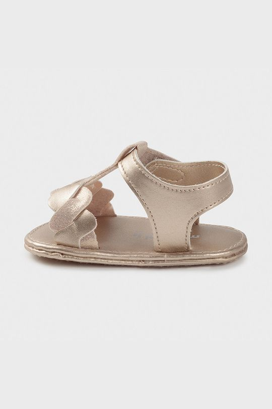 Mayoral Newborn - Detské sandále zlatá